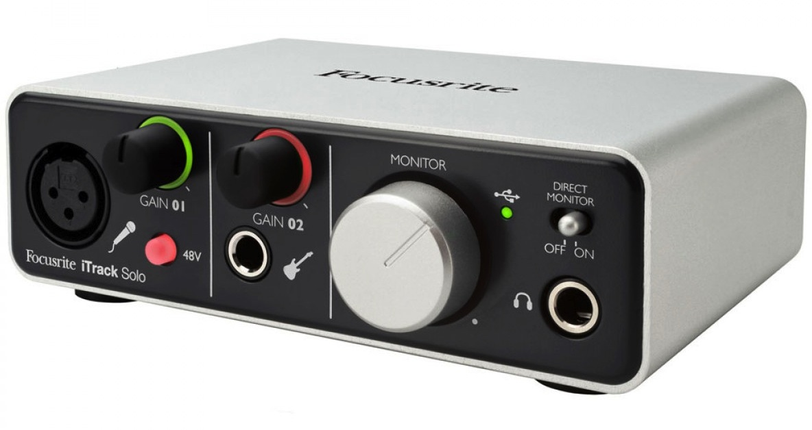 focusrite itrack solo recording interface for ipad mac and pc. Black Bedroom Furniture Sets. Home Design Ideas