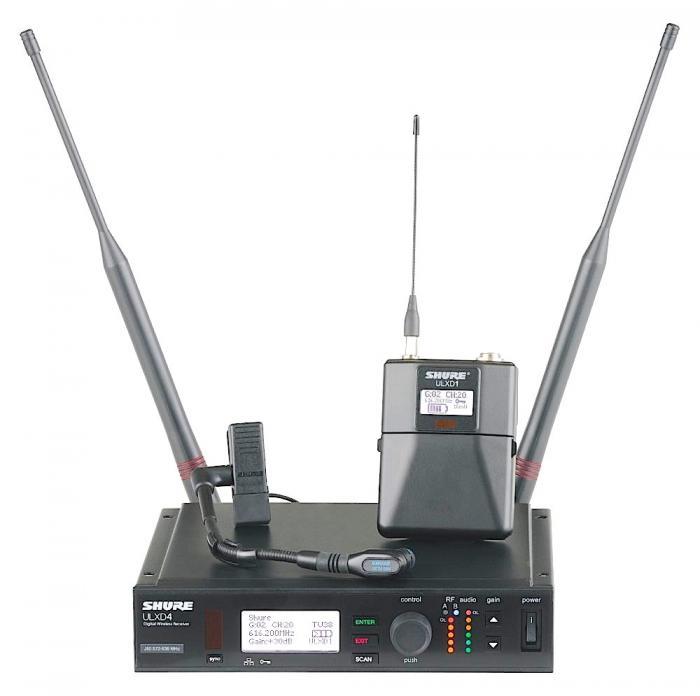 shure ulxd14 98h wireless instrument microphone system. Black Bedroom Furniture Sets. Home Design Ideas