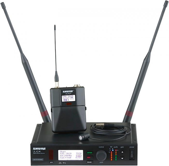 shure ulxd14 83 wireless lavalier microphone system. Black Bedroom Furniture Sets. Home Design Ideas