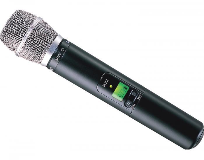 shure slx24 sm86 wireless handheld microphone system. Black Bedroom Furniture Sets. Home Design Ideas