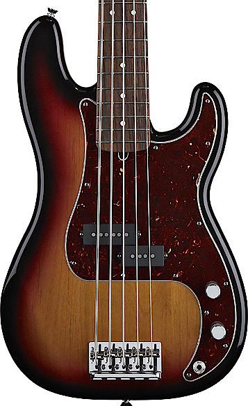 fender american standard precision bass 5 string sunburst rosewood. Black Bedroom Furniture Sets. Home Design Ideas