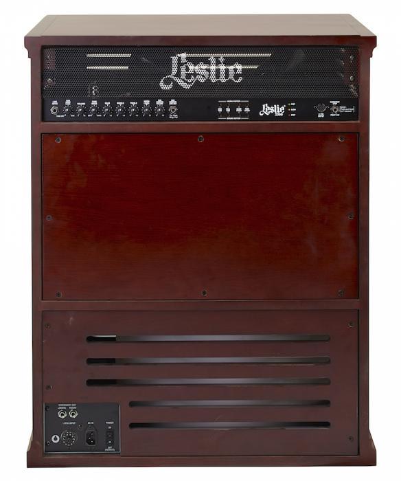 leslie 3300w rotary speaker cabinet red walnut. Black Bedroom Furniture Sets. Home Design Ideas