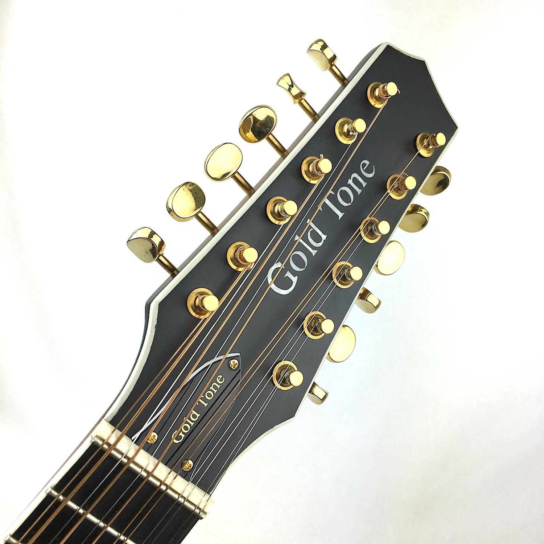 gold tone gm 12 12 string acoustic electric mando guitar